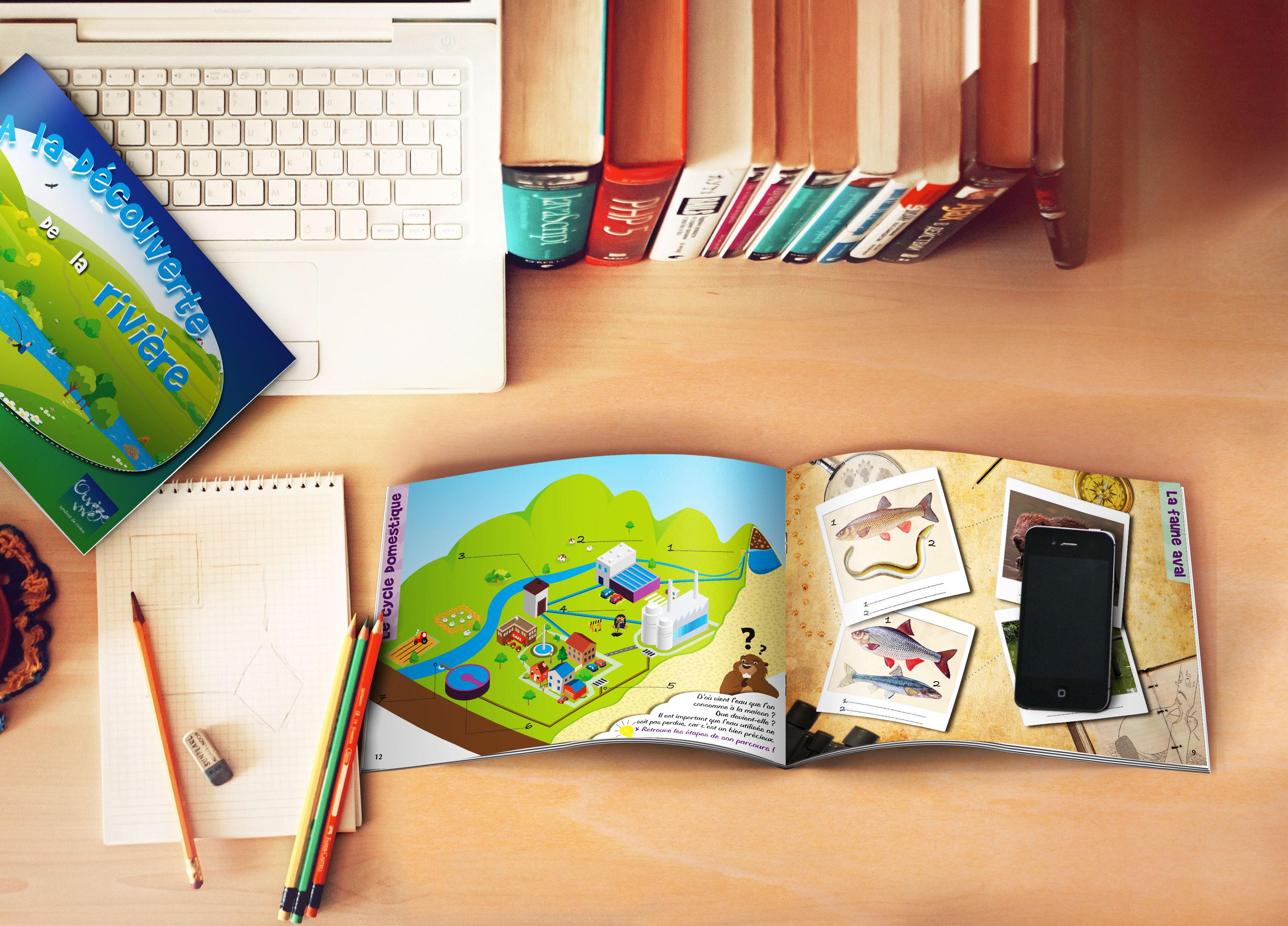 Illustration et mise en page livret scolaire 16 pages