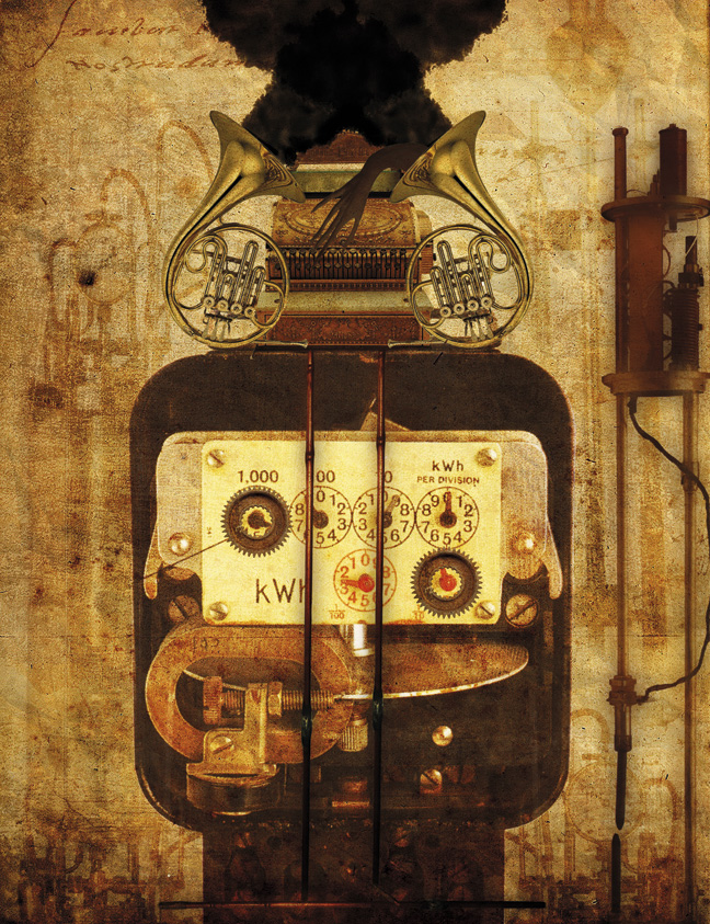 Illustration magazine Steampunk